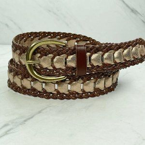 Ann Taylor Loft Vegan Braided Faux Leather Belt